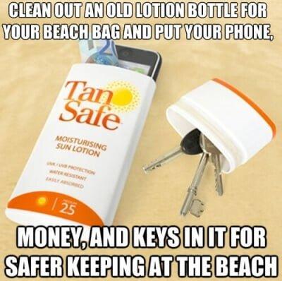 Life hack - undgå tyveri på stranden